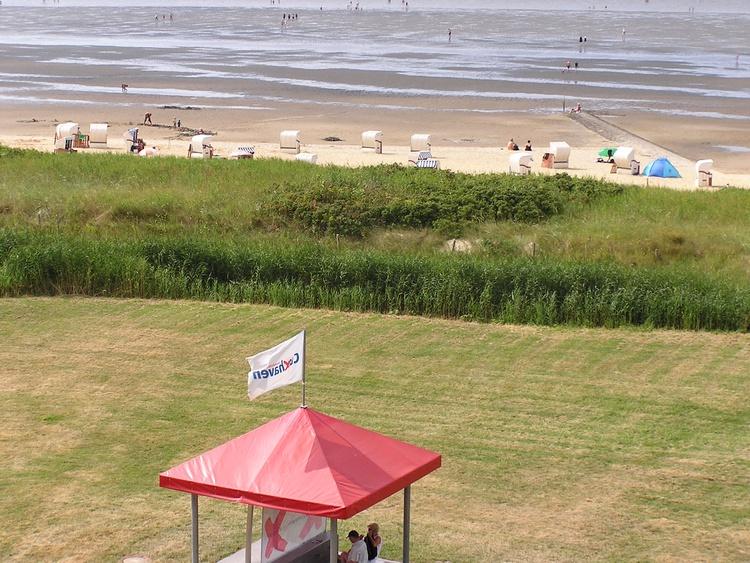 Der Blick zum Strand