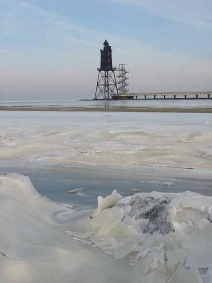 die Nordsee im Winter