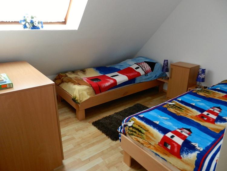 Sonnekieker und Friesennest Schlafzimmer mit Einzelbetten