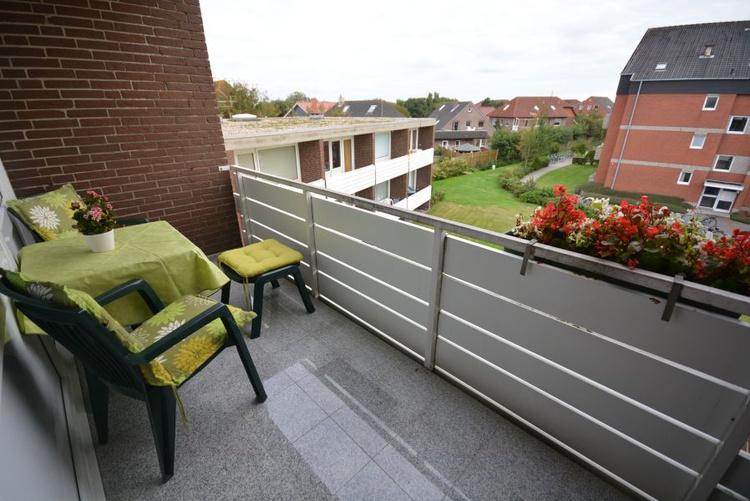 Balkon mit ganztägiger Sonne