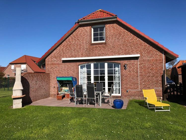 Terrasse und Garten Ferienhaus Roese