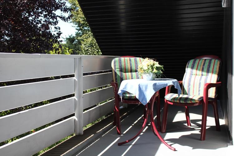 Balkon/Loggia mit Gartenblick