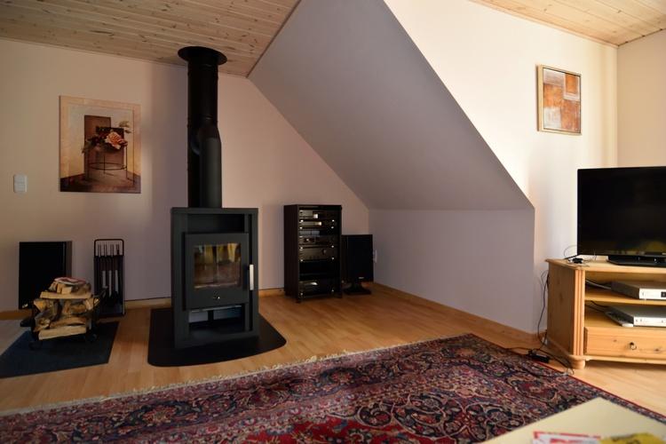 Teilansicht Wohnzimmer mit Kamin