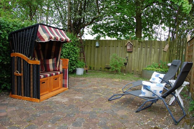 Sitzecke im Gartenbereich