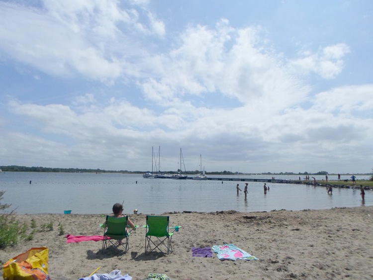 Cosy beach of Kortgene on the lake of Veere