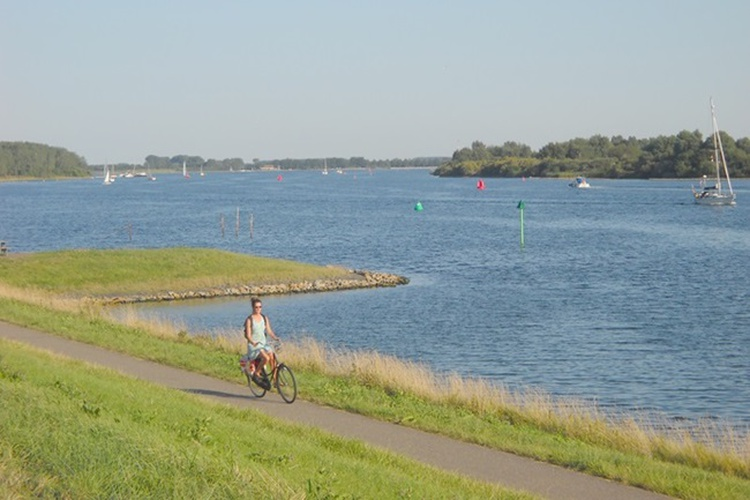 Enjoy cycling all along different waters