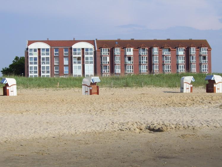 Das Haus Horizont vom Strand aus