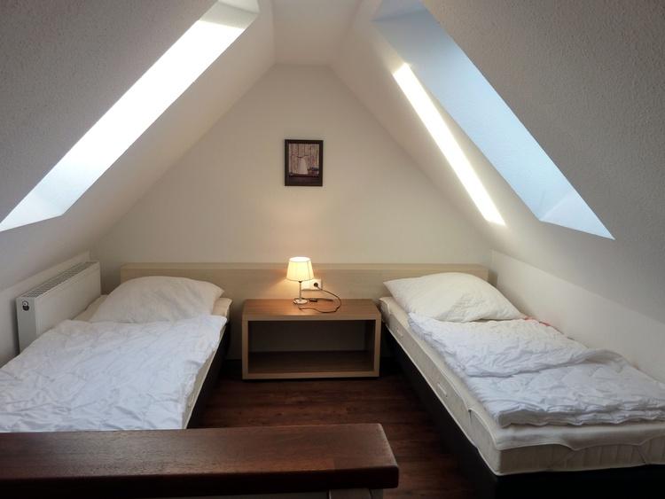 Schlafzimmmer offene Dachgalerie