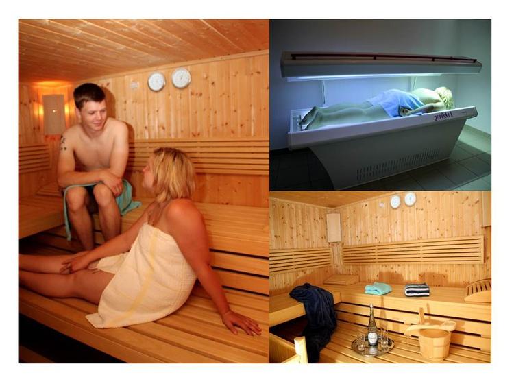 Sauna und Solarium im Haus